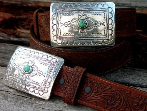 画像クリックで大きく確認できます Click↓2: トニーラマ スクエアバックル ベルト(ブラウン)/Tony Lama Navajo Spirit Belt(Brown)