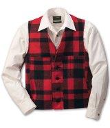 フィルソン マッキーノ ウールベスト(レッド×ブラック)/Filson Mackinaw Wool Vest