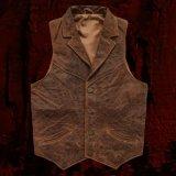 ウエスタン レザー ベスト(ブラウン)/Western Leather Vest(Brown)