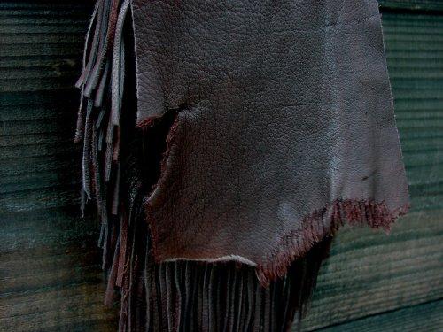 画像クリックで大きく確認できます Click↓2: ディアスキン フリンジベルトポーチ(チョコ)/Deerskin Fringe Belt Pouch