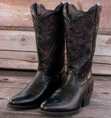 レディース ウエスタンブーツ(ブラック)/Western Boots(Women・Black)
