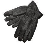 ディアスキン (鹿皮)グローブ ブラック (フリース付手袋)/Deerskin Leather Gloves Black