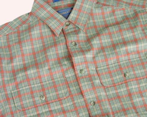 画像クリックで大きく確認できます Click↓2: ペンドルトン半袖シャツ(オレンジプラッド)S/Pendleton Short Sleeve Shirt