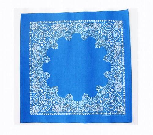 画像クリックで大きく確認できます Click↓1: バンダナ ハバハンク HAV-A-HANK ペイズリー(ブルー・ホワイト)/Bandana Paisley Blue White