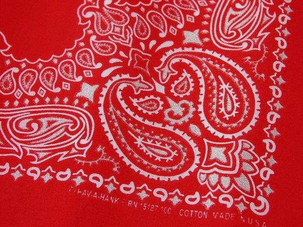 画像2: バンダナ ハバハンク HAV-A-HANK ペイズリー(レッド・ホワイト)/Bandana Paisley Red White