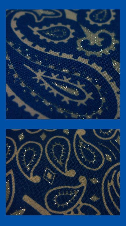 画像クリックで大きく確認できます Click↓3: バンダナ ハバハンク HAV-A-HANK ペイズリー(ブルー・ホワイト)/Bandana Paisley Blue White
