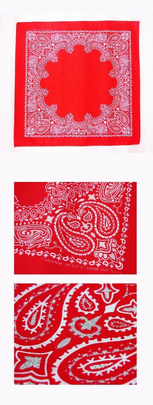 画像クリックで大きく確認できます Click↓1: バンダナ ハバハンク HAV-A-HANK ペイズリー(レッド・ホワイト)/Bandana Paisley Red White