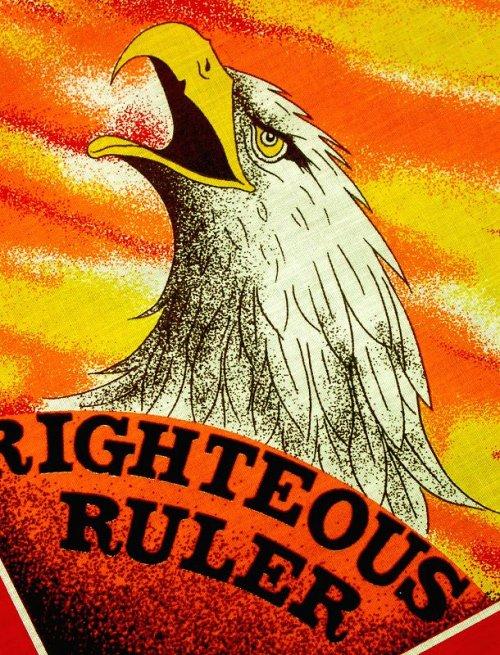 画像クリックで大きく確認できます Click↓3: ハーレーダビッドソン バンダナ(レッド・RIGHTEOUS RULER)/Harley Davidson Bandana