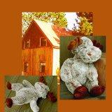 ログキャビン ラージ ホワイトムース/ Moose Doll(Large)