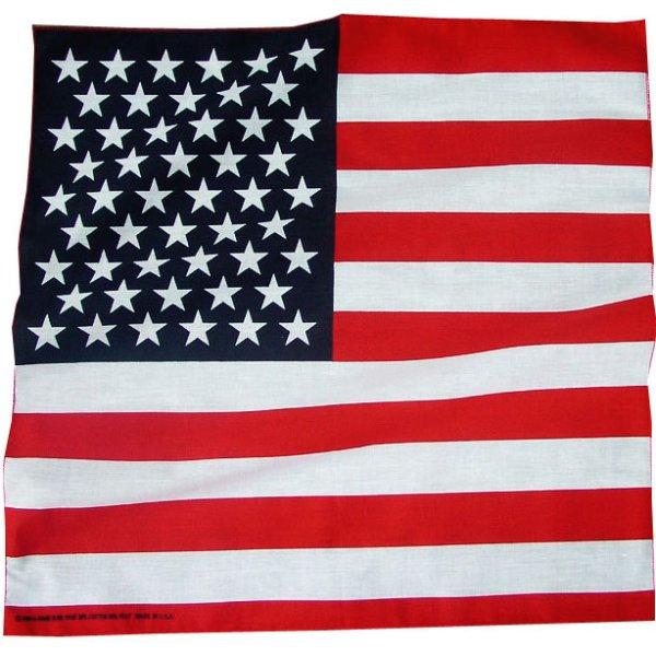 画像1: バンダナ(アメリカ国旗)/Bandana US Flag