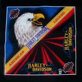ハーレーダビッドソン バンダナ(ブラック・American Legend)/Harley Davidson Bandana