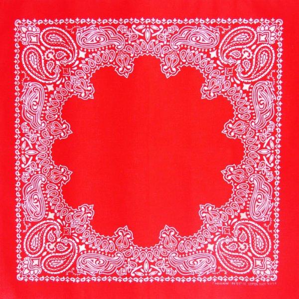 画像1: バンダナ ハバハンク HAV-A-HANK ペイズリー(レッド・ホワイト)/Bandana Paisley Red White