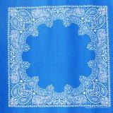 バンダナ ハバハンク HAV-A-HANK ペイズリー(ブルー・ホワイト)/Bandana Paisley Blue White