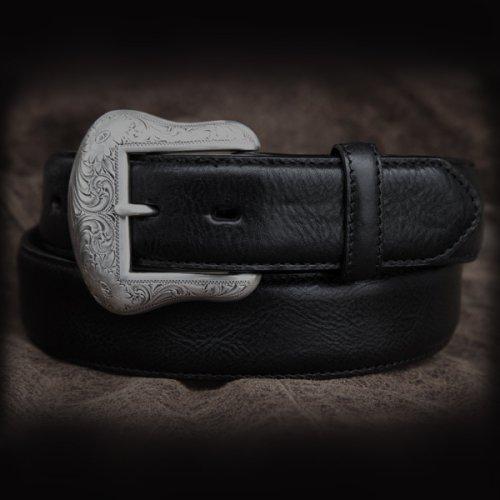 画像クリックで大きく確認できます Click↓1: ウエスタン レザー ベルト ブラック/Leather Belt(Black)