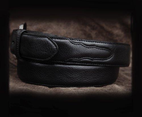 画像クリックで大きく確認できます Click↓2: ウエスタン レザー ベルト ブラック/Leather Belt(Black)