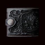 ファニー コインヘッド ビルフォード ハンドクラフト・Hand Craft(Black)/Funny Coin Head Billfold
