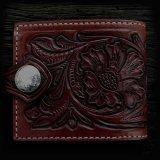 ファニー コインヘッド ビルフォード ハンドクラフト・Hand Craft(Brown Antique)/Funny Coin Head Billfold