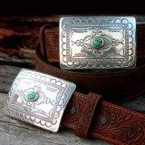 トニーラマ スクエアバックル ベルト(ブラウン)/Tony Lama Navajo Spirit Belt(Brown)