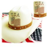オンリーインアメリカ レザーバンド ストローハット(ナチュラル)/Western Straw Hat(Only In America)