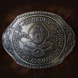 モンタナシルバースミス ラージサイズ ベルト バックル カウボーイアップ/Montana Silversmiths Belt Buckle Cowboy Up Skull