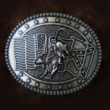 モンタナシルバースミス ラージサイズ ベルト バックル ライダー・フラッグ/Montana Silversmiths Belt Buckle Rider Flag