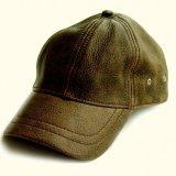 レザーキャップ(ビンテージブラウン)/Leather Baseball Cap(Brown)