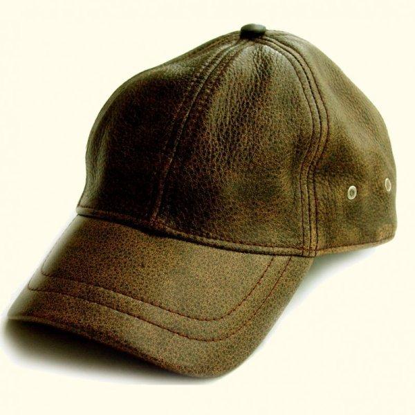 画像1: レザーキャップ(ビンテージブラウン)/Leather Baseball Cap(Brown)