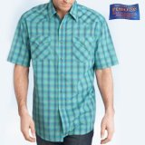 ペンドルトン 半袖 ウエスタン シャツ ターコイズ/Pendleton Shortsleeve Western Shirt