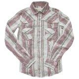 ウエスタン シャツ  ピンク ホワイト(長袖)/Long Sleeve Western Shirt(Women's)