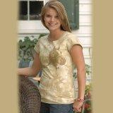 ホースデザイン 半袖Tシャツ(クリーム・レディース)/Horse Shortsleeve T-shirt(Cream・Women's)