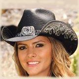 ブルハイド ウェスタン ストローハット(カウガールファンタジー・ブラック)/BULLHIDE Western Straw Hat Cowgirl Fantasy(Black)