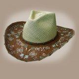パナマ ストロー ハット(ブラウン・ナチュラル)/Western Straw Hat(Natural)