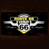 ルート66 ライセンスプレート シカゴ-カリフォルニア/Route66 License Plate