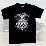 ルート66 半袖Tシャツ(ブラック・イーグル)/Route 66 T-shirt