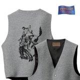 ペンドルトン ハイグレード ウエスタン ウールベスト(グレー)/Pendleton Round-Up Wool Vest(Gray mix)