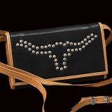 モンタナシルバースミス レザー&スタッズ ステアーヘッド ワレット(ブラック)/Montana Silversmiths Leather Wallet(Black)