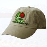 風飛び防止 キャップキーパー付 フィッシュキャップ(カーキ)/Baseball Cap with Hat Tether