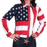 スカリー USA アメリカ国旗シャツ(長袖/アメリカンフラッグ)/Scully Western Shirt(Women's)
