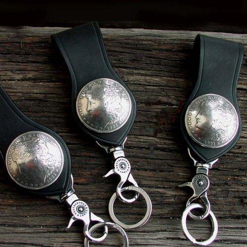 画像クリックで大きく確認できます Click↓2: ファニー 1$ループキーホルダー(ブラック)/Funny 1$ Loop Key Holder(Black)