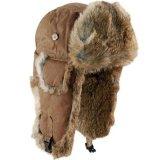 マッド ボンバー ハット 帽子 (ワックスコットン&ラビット ファー タン)/Mad Bomber Hat(Waxed Cotton Tan)