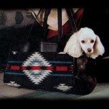 ペンドルトン・ウール・レザーペットキャリア(ブラックホワイト)/Pendleton Wool Leather Pet Carrier(Blk Wht)