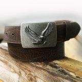 イーグル バックル レザー ベルト(ブラウン)/Leather Belt(Brown)