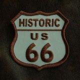 ルート66 ヒストリック US66 ワッペン ブラウン/Route66 Patch