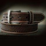 ウエスタン レザー ベルト ブラウン バスケット38/Leather Belt(Basket Brown)
