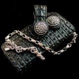 ファニー ライダースウォレット(ホーンバックナイルクロコダイル・ブラック/VICTOR37MM・SLOW265000)/Funny Rider's Wallet(Horn Back Nile Crocodile・Black/925Silver)