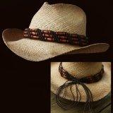 ウェスタン ストローハット ビーズ(ナチュラル)/Western Straw Hat