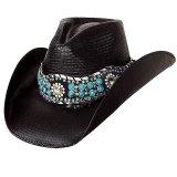 ブルハイド ウェスタンストローハット(オウン ザ ナイト)/BULLHIDE Western Straw Hat OWN THE NIGHT(Black)