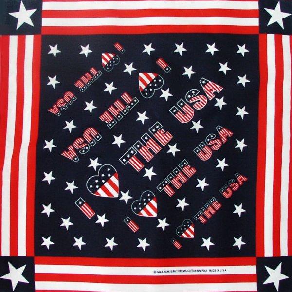 画像1: HAV-A-HANK バンダナ(I  LOVE THE U.S.A)/Bandana