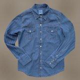 ウエスタン ジーンズシャツ デニム(長袖)/Long Sleeve Western Denim Shirt(Women's)