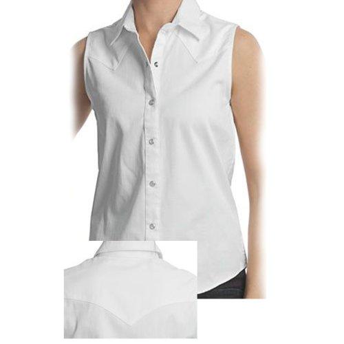 画像クリックで大きく確認できます Click↓1: パンハンドルスリム ウエスタン シャツ ホワイト ノースリーブS/Panhandle Slim Western Shirt(Women's)